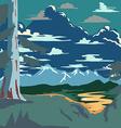Vintage Style Landscape Background Retro Ads Print vector image