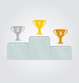 Sport winners podium Trophy on sports podium Gold vector image