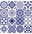 seamless tiles pattern mediterranean floral mosai vector image