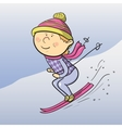 cartoon skier vector image