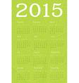 2015 calendar ecology concept vector image