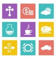 Color icons for Web Design set 31 vector image vector image