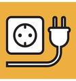 Plug and socket icon vector image