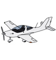Small propeller airplane vector image vector image