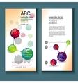 infographics flyer vector image