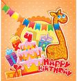 happy birthday 4year 380 vector image vector image