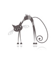 Angry grey striped cat for your design vector image vector image