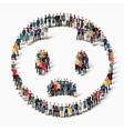 people emoticon smiley icon vector image