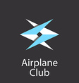Airplane club logo emblem of airlift company vector image