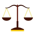 balance scale isolated icon design vector image