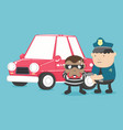 motor vehicle theft vector image