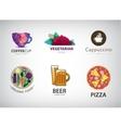 set of food restaurant logo vector image