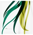 Shiny colorful abstract background green and blue vector image