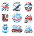 Ski resort emblems set vector image
