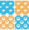 Thunderbolt pattern set colored vector image