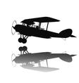 Vintage airplane vector image