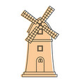 windmill building isolated icon vector image