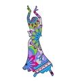 Oriental dancer colorful vector image