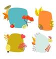 Autumn card templates with foliage decorative vector image