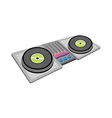 A view of record player vector image