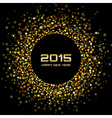 Gold Bright New Year 2015 Background vector image