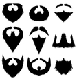 Mustaches and Beards Collection vector image