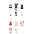 female carnival costumes vector image