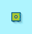 Flat Icon of Closed Safe vector image