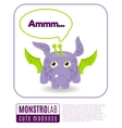 a monster saying ammm vector image