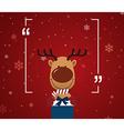 Reindeer holding giftbox vector image