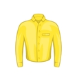 Yellow man shirt icon cartoon style vector image vector image