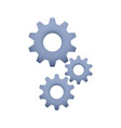 cogs symbol on white background settings icon vector image