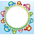 colorful child template vector image