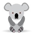 Cute cartoon koala on a white background vector image