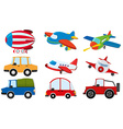 Different kind of transportations vector image