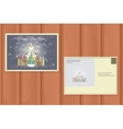 Holiday Postcard of a Cute snow Maiden vector image