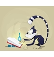 monkey reading a book vector image
