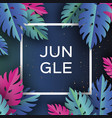 monstera trendy jungle banner paper cut tropical vector image