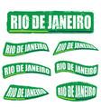 rio de janeiro letter in green color set vector image