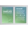 Set of Poster Brochure Design Templates in green vector image