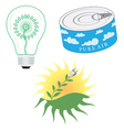 Green Energy Icon Set vector image vector image