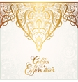 floral golden eastern decor with place for your vector image