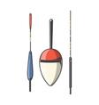 Set of fishing floats vector image