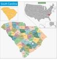 South Carolina map vector image
