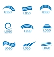 Water logo set vector image