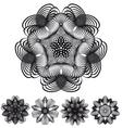 Abstract geometric flowers vector image