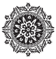 black decorative oriental pattern and ornaments vector image