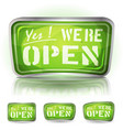 Come in were open sign vector image