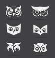 image of an owl face design on black background vector image
