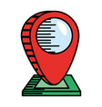 pointer map navigation location vector image